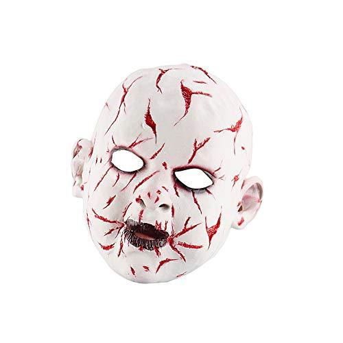 Meigold Halloween Party Maske Blutige Geistermaske Maskerade Maske Halloween Karneval Requisiten Männer und Frauen (Maske Blutige Maskerade)