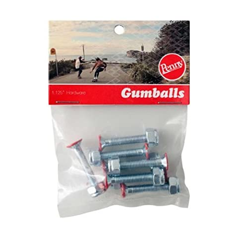 Penny Gumball Skateboard Bolts, Red, 1.125 by Penny