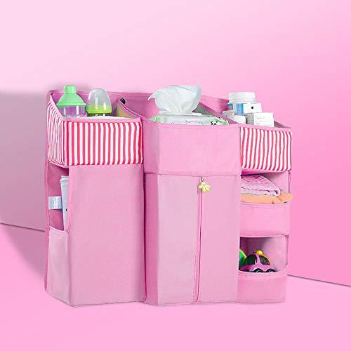 Jenny.ben borsa per culla di grande capacità borsa per appendere il letto borsa per pannolino accessori per set di biancheria da letto borsa rosa