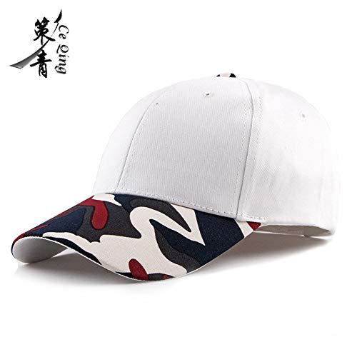 sdssup Camouflage Baseball Cap Visier männliche und weibliche Entenzunge Hut weibliche Camouflage Cap + weiße Kappe einstellbar -