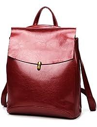 Caige Mädchen arbeiten echtes Leder-Schulter-Beutel-Rucksack College-Leger Daypack Schultertasche Damen Messenger Bag Reisetasche Rucksack Schultasche für Mädchen im Teenageralter