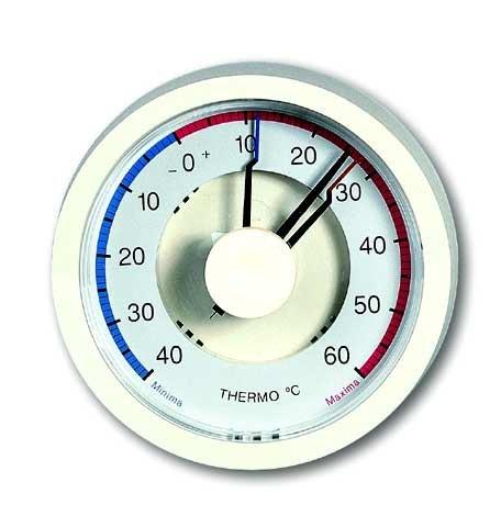 TFA Bimetall-MaximMinimThermometer elfenbein-weiß 104001 - Elfenbein-thermometer