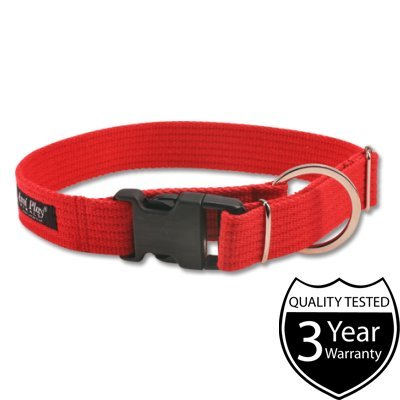 ami-play-cotton-dog-soft-and-adjustable-collar-small-red