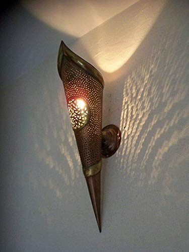 Wand- Wand Fackel Schmiedeeisen Marokkanisch 60 cm Lampe Laterne Kronleuchter
