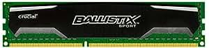 Ballistix Sport 4GB Single DDR3 1600 MT/s (PC3-12800)UDIMM 240-Pin Memory - BLS4G3D1609DS1S00CEU