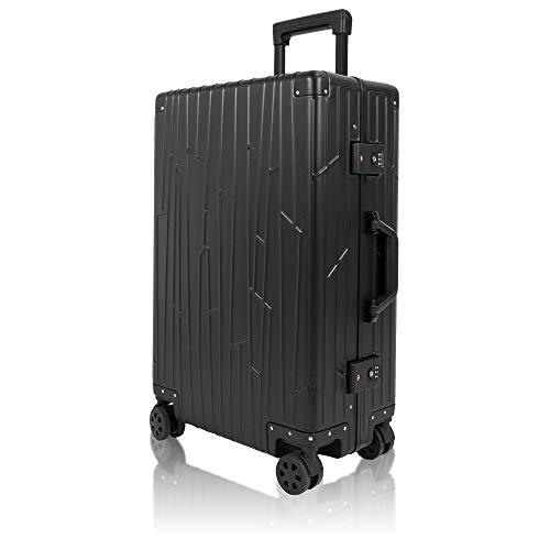Koffer Aluminium von Gundel Reisekoffer Trolley Hartschalenkoffer Check-in Schwarz
