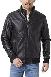 Peter England Mens Regular Fit Outerwear_ EOW51500002_XL_ Black