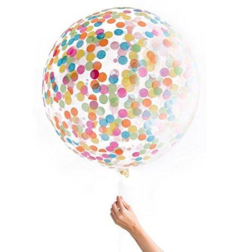 uyhghjhb Aniversario de Bodas Fiesta de cumpleaños de Aniversario de Boda Globo de Confeti Decoración navideña Random Color