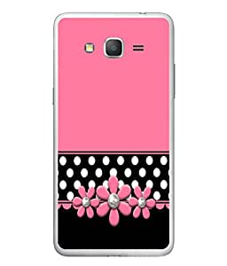 PrintVisa Designer Back Case Cover for Samsung Galaxy E7 (2015) :: Samsung Galaxy E7 Duos :: Samsung Galaxy E7 E7000 E7009 E700F E700F/Ds E700H E700H/Dd E700H/Ds E700M E700M/Ds (Black Polka Dots Flowery Flowers )