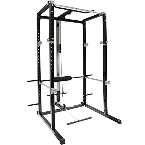 Power Rack mit Lat Machine und Dip Bar inklusive