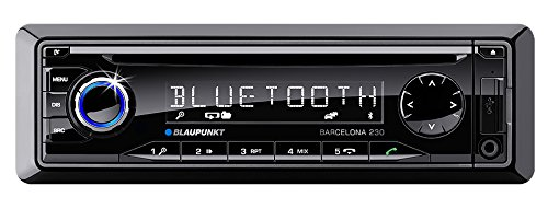 Blaupunkt Barcelona 230 Kfz-Radio mit Mikrofon (v2.0 Bluetooth, FM-Tuner, SD-Kartenslot, 4x 50 Watt, 3,5 mm Klinke, USB) schwarz