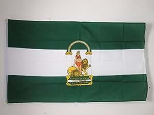 DRAPEAU ANDALOUSIE 150x90cm - DRAPEAU ANDALOUS - ANDALUCIA - ESPAGNE 90 x 150 cm - DRAPEAUX - AZ FLAG