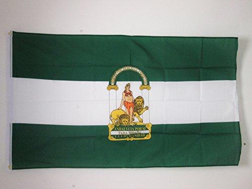 AZ FLAG Bandera de ANDALUCÍA 150x90cm - Bandera ANDALUZA 90 x 150 cm