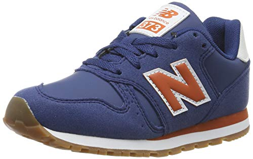 New Balance 373, Zapatillas para Niños, Azul Navy/Orange Navy/Orange, 37 EU