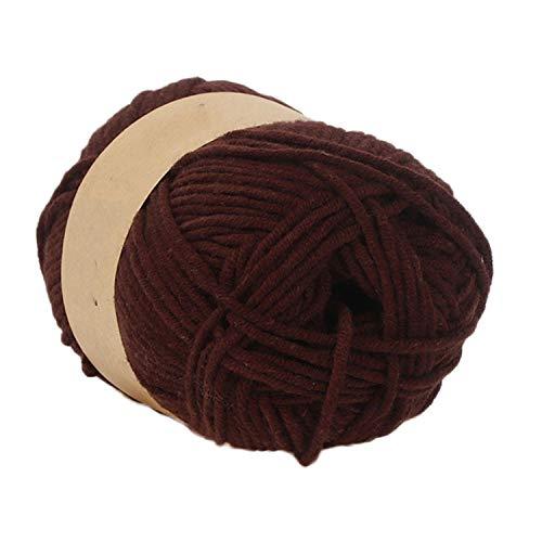 1 Stück 50 g buntes Handstricken Milk Baumwolle Häkelstrick DIY Craft Strick Pullover Hut Schal bunt handgestrickt, baumwolle, h, Einheitsgröße