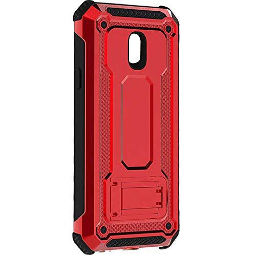 """KUAWEI Custodia Samsung Galaxy J5 2017 Cover Armatura Rugged Heavy Duty Cover Doppio Strato Antiurto Protettiva Cover Supporto Stabile Protettiva Shell per Samsung J5 2017 J5 PRO J530 5.2"""" (Rosso)"""