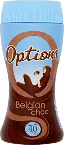 Optionen Belgian Chocolate Instant Hot Chocolate Drink (220g) - Packung mit 6