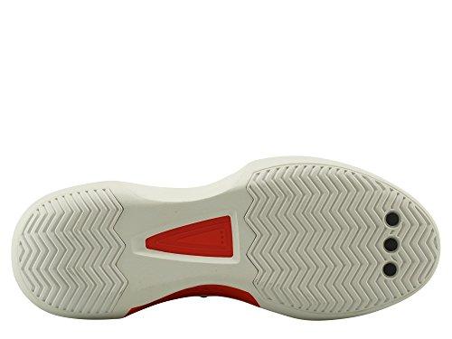 adidas Crazy 1 ADV, Scarpe da Ginnastica Basse Uomo Bianco (Footwear White/core Black/hi-res Red 0)
