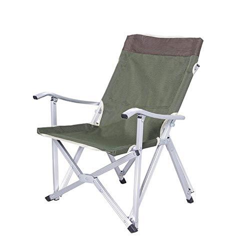 NTS Chaise Pliante Portable Rouge/Verte, Portable, Alpinisme, Camping, pêche en Bord de mer, Pique-Nique, Jardinage, avec Sac (1 pièce). (Green)