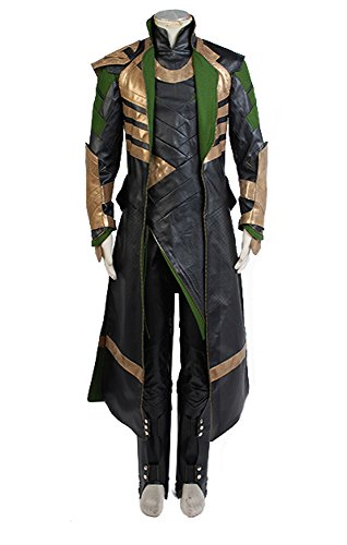 Thor The Dark World Loki Whole Set Cosplay Kostüm Herren L