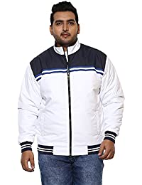 JOHN PRIDE Men White Coloured Jacket (Sizes: 3XL- 6XL)
