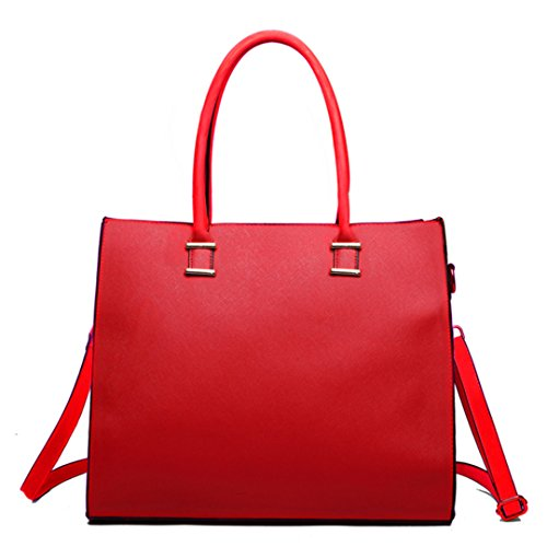 Miss Lulu, Borsa tote donna 1509 Red