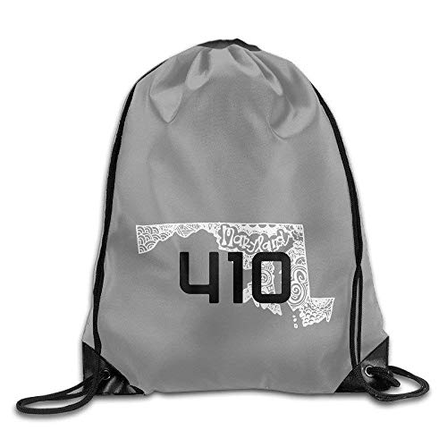 shuangshao liu Unisex Baltimore Maryland Map 410 Area Code Sports Tasche Drawstring Backpack