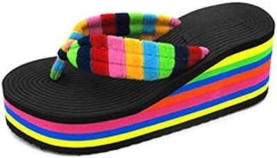 Chanclas mujer plataforma gruesa, Culater Sandalias de verano zapatillas de interior al aire libre zapatos de playa