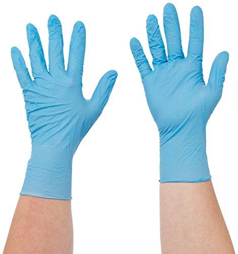 Semperguard 3000001645 Nitril Comfort Einmalschutz und Untersuchungshandschuh aus Nitrillatex, puderfrei, Größe L, 8-9, Blau (100 er-Pack)