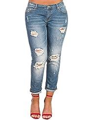 Women's Ladies Stunning Denim Ripped Knee Skinny Jeans