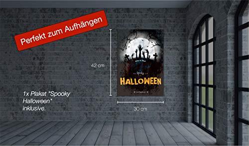 TK Gruppe Timo Klingler 1x Absperrband blutig Absperrung Band 6,1 Meter ALS Dekoration Deko an Halloween Halloweendeko Party  Caution Zombie Zone - 3