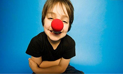 (Clownnnase aus rotem Schaumstoff für Partys, Halloween, Kostüm, 25 Stück)