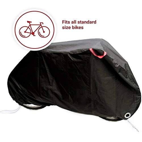 SS-Covers Fahrrad Und Motorrad Oxford Tuch Outdoor Regenschutz, Möbelbezüge UV-Schutz Für Outdoor Sonnenschutz Schwarz Mit Schrumpfgröße Optional (Size : XL44*82 * 30in)