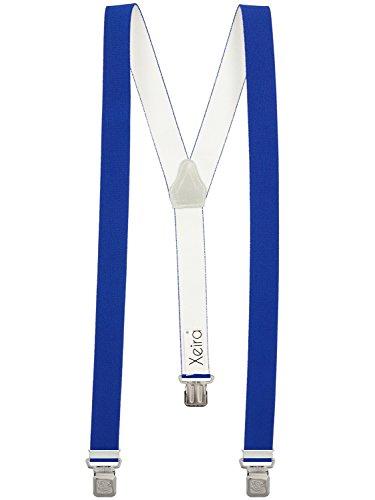 Bretelles de Haute qualité pour Femmes/Homme avec 3 Extra Fort Clips dans 15 Couleurs - Fabriqué en Allemagne - avec XL Aigle Clip (Bleu)