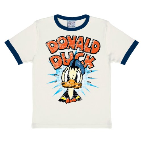 Donald Baby Kostüm Duck (Logoshirt Jungen, T-Shirt, Disney Donald Duck, Mehrfarbig (almost White/deep Navy), 12-18)