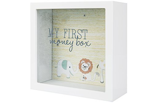 Splosh My First Money Box Change Box Gift Square Glass Front To See Savings Inside