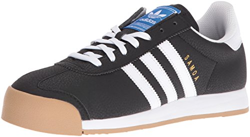 Adidas Samoa Cuir Baskets Black-White-Goldmt