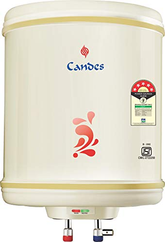 Candes Stainless Steel Storage Electric Water Heater (Ivory, 10L)