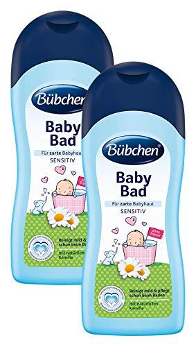 Bübchen Baby Bad, sensitiver Baby Badezusatz mit natürlicher Kamille, Menge: 2 x 1 L