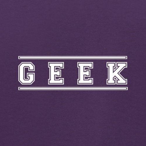 Geek (College Style Font) - Herren T-Shirt - 13 Farben Lila