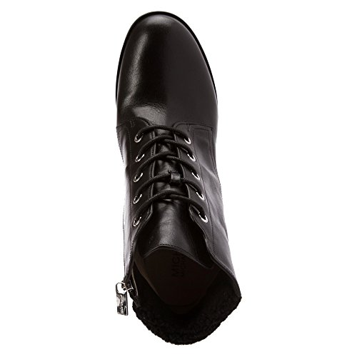 Michael Michael Kors Kim Lace Up Bootie Cuir Bottine Black