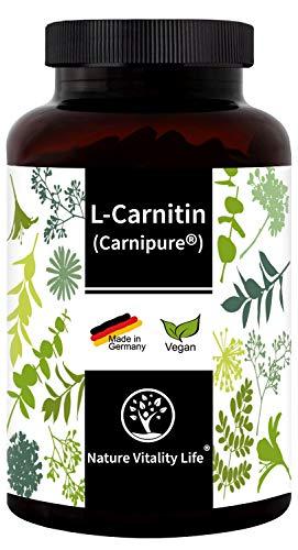 L-Carnitin 3000 - Carnipure® von Lonza - 120 Kapseln - MADE IN GERMANY - laborgeprüft - hochdosiert - vegan