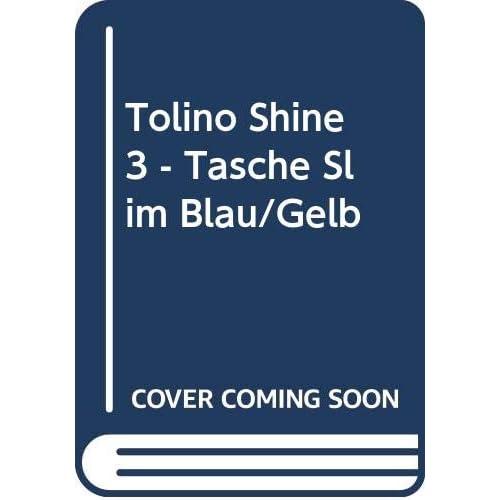 tolino shine 3 - Tasche Slim Blau/Gelb
