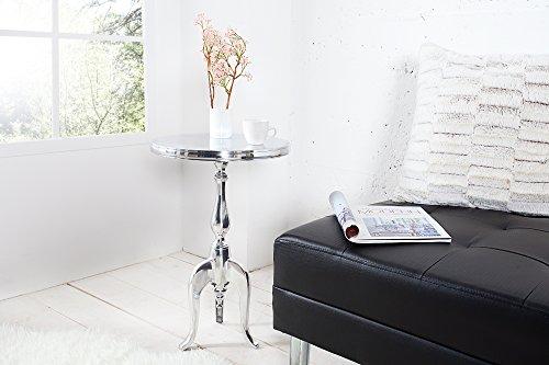 DuNord Design Beistelltisch LA Fleur 55cm Barock Alu Rund Telefontisch Tisch Orientalisch...