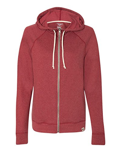 Champion Authentic Originals French Terry Hooded Full-Zip (AO650) -Carmine Re -2XL Red French Terry