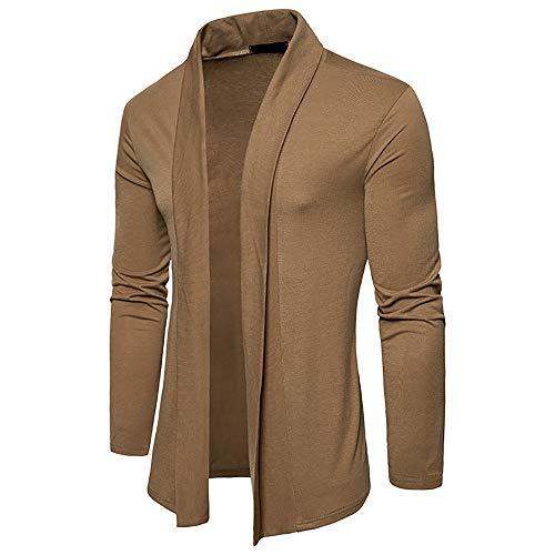 Manteau Homme, Manadlian Vestes Automne Hiver Cardigan Uni Basic Tricot Chandail Chic Mode Sweatshirt
