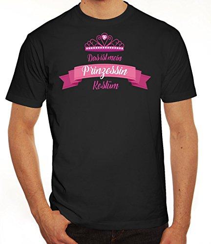 Fasching Karneval Herren T-Shirt mit Das ist mein Prinzessin Kostüm 2 Motiv von ShirtStreet Schwarz