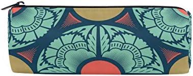 Bonipe vintage ethnique coloré Imprimé floral Trousse Pochette Sac d'école papeterie Pen Box Zipper Cosmétique Sac de maquillage | Pratique Et économique