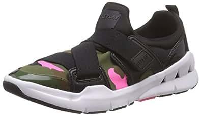 Replay  Selema, Sneakers Basses femme - Multicolore - Mehrfarbig (CAMO FUXIA 782), 35