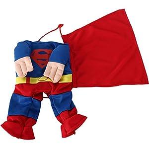 """Digiflex Animal de Compagnie Chien Super Héros Costume Déguisement Halloween Tenue Dimension Cou 14.5""""/37 cm"""
